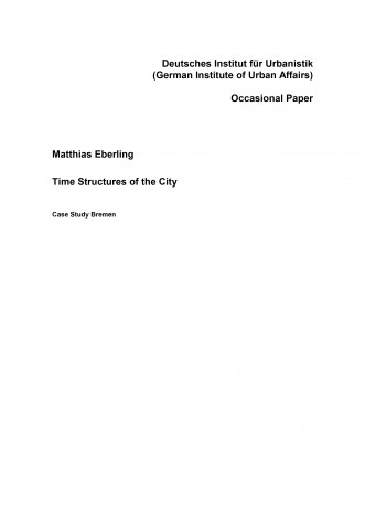 Cover: Time Structures of the City