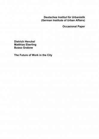 Cover: The Future of Work in the City