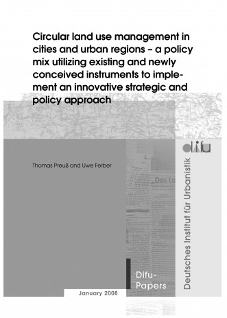 Cover: Circular land use management in cities and urban regions - a policy mi...