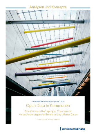 Cover-Abbildung der Studie Open Data in Kommunen