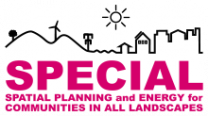 Logo und Schriftzug Spatial Planning and Energy for Communities in all Landscapes (SPECIAL)